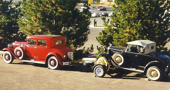 1931 Buick Towing a 31 Ford