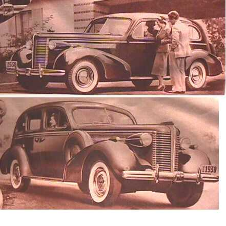 1938 Buick Postcards