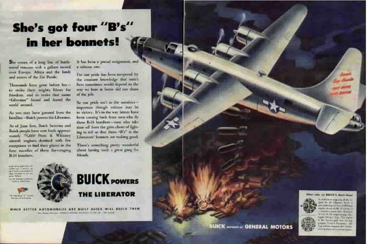 1942 Buick B24 powered by Buick-built radial engines