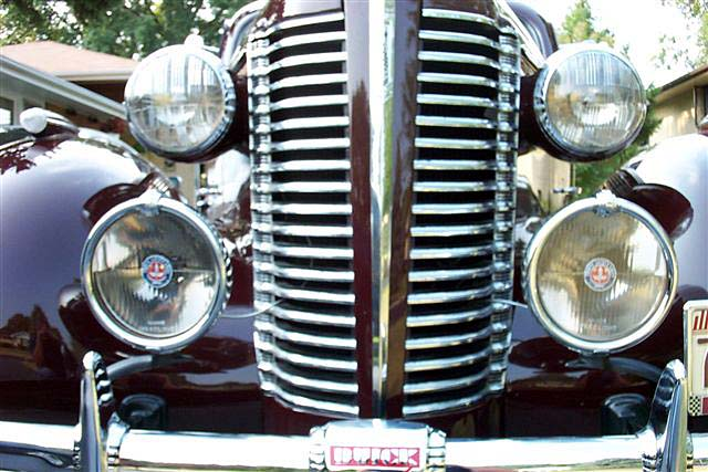 1938 Buick w. Restored Trippe Lights