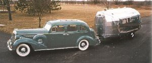 steele 36 buick w/Airstream trailer